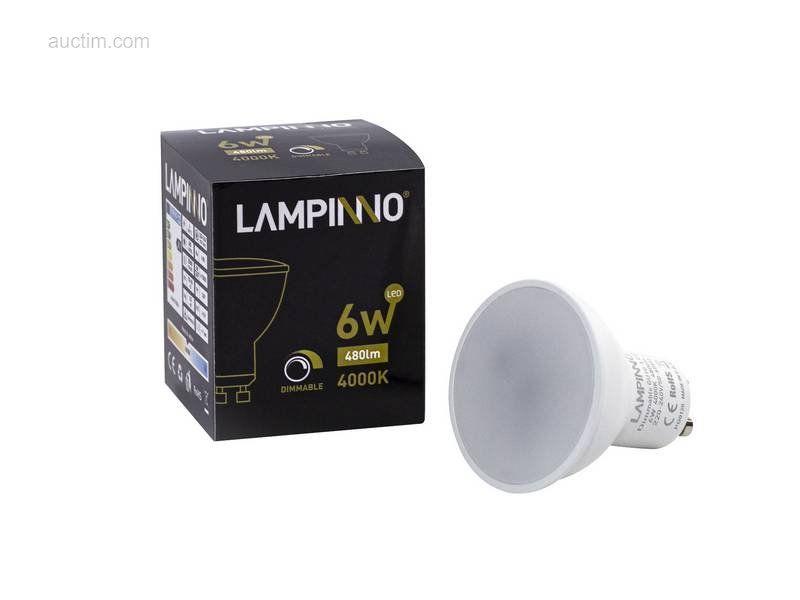 100 x 6W GU10 dimmbare SMD LED Spots 4000K - Leuchtend
