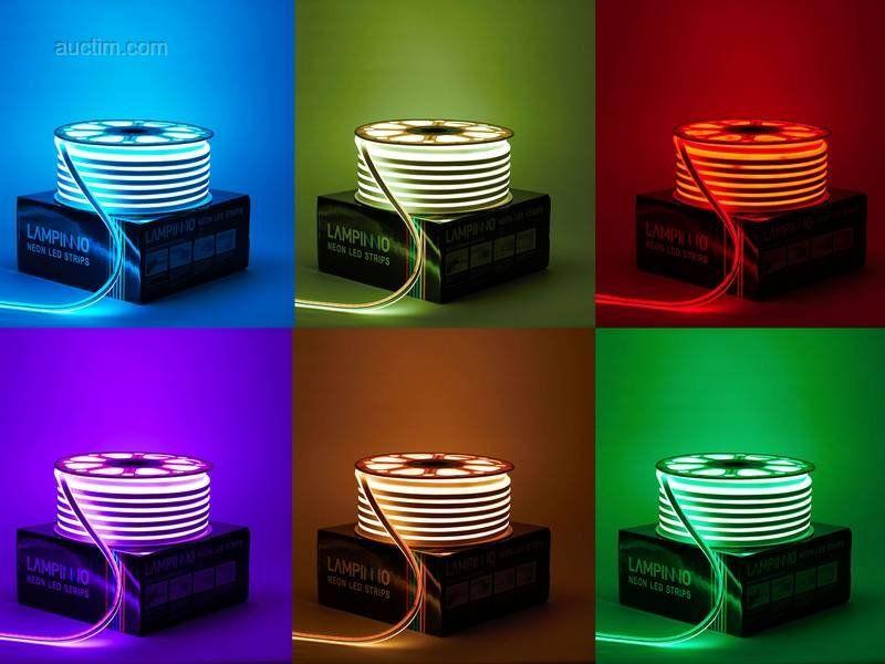 1 x 50 Meter Neon RGB wasserdichte SMD 5050 LED-Streifen