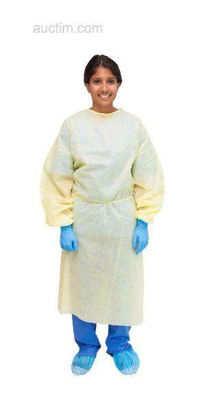 2400 Stück MEDICHOICE Isolation Gown Yellow (1 Palette
