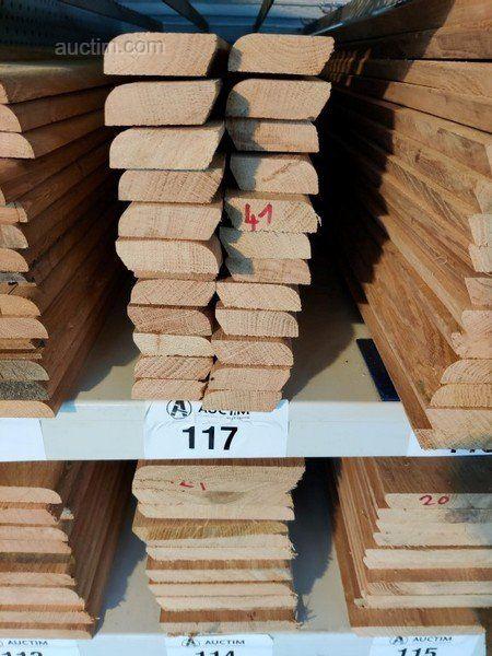 48 lm Sockelleisten aus massiver französischer Eiche verschiedener Art