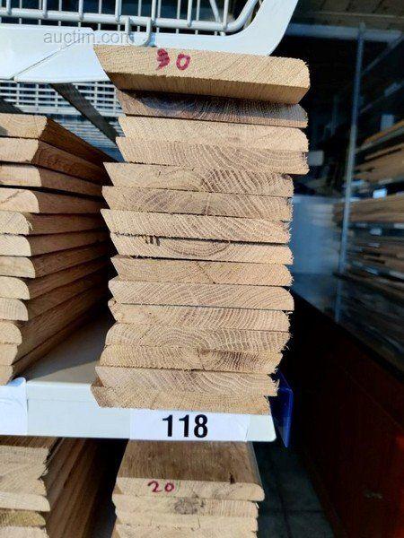 27 lm Sockelleisten aus massiver französischer Eiche verschiedener Art