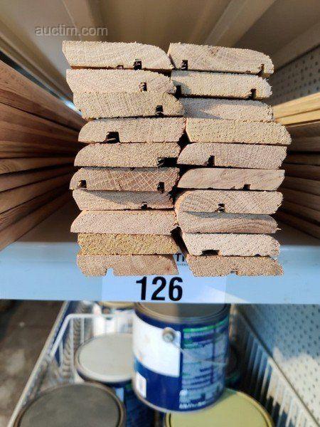 30 lm Sockelleisten aus Massiver französischer Eiche in verschiedenen Längen