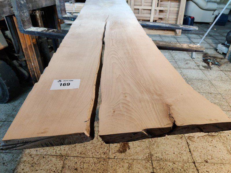Tischplatte aus massiver Buche geschliffen 2840x (max. Breite) 600x