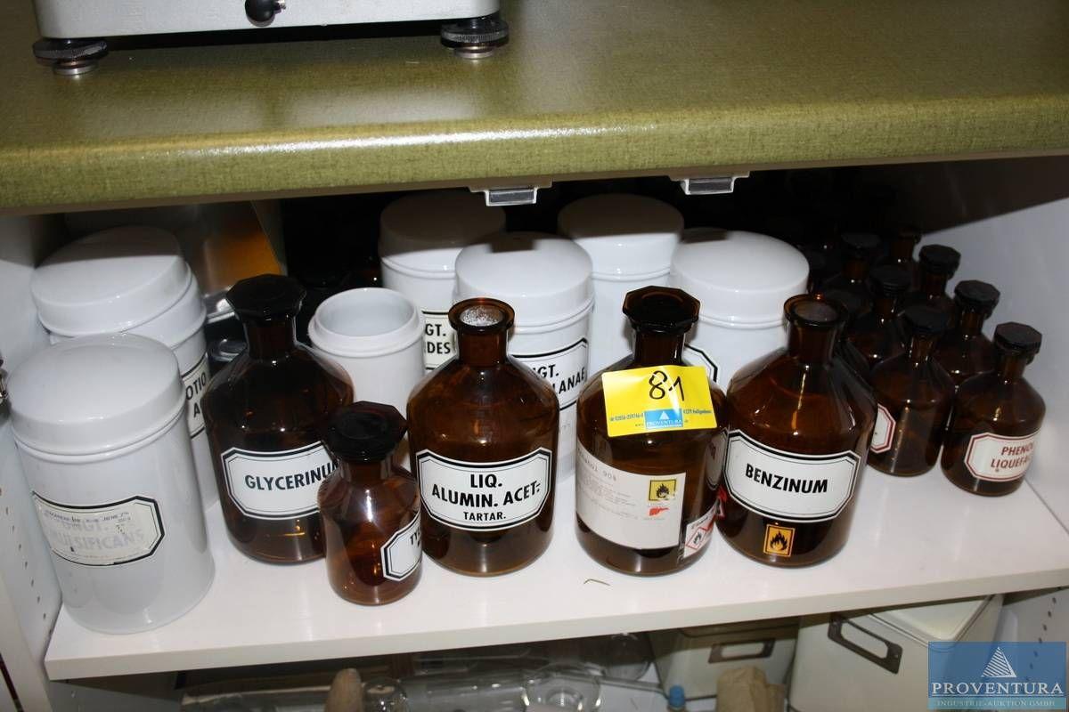 Apothekerflaschen m. Glasstopfen braun ca. 26 St.