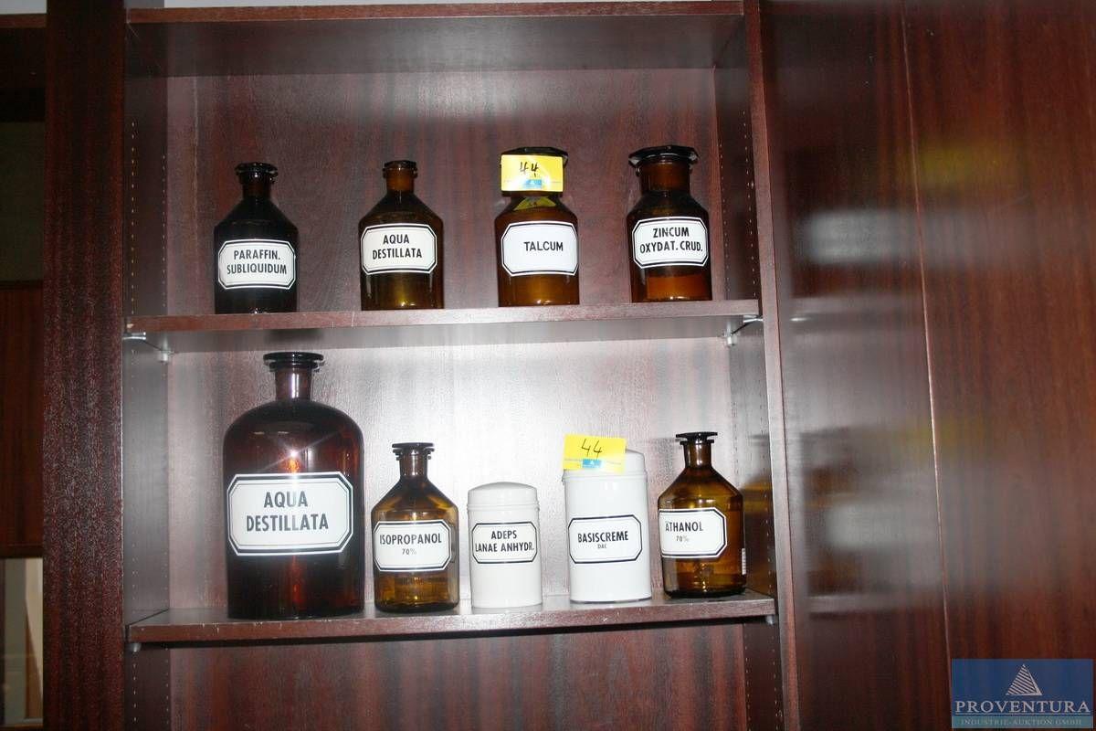 Apothekerflaschen m. Glasstopfen braun 7 St.