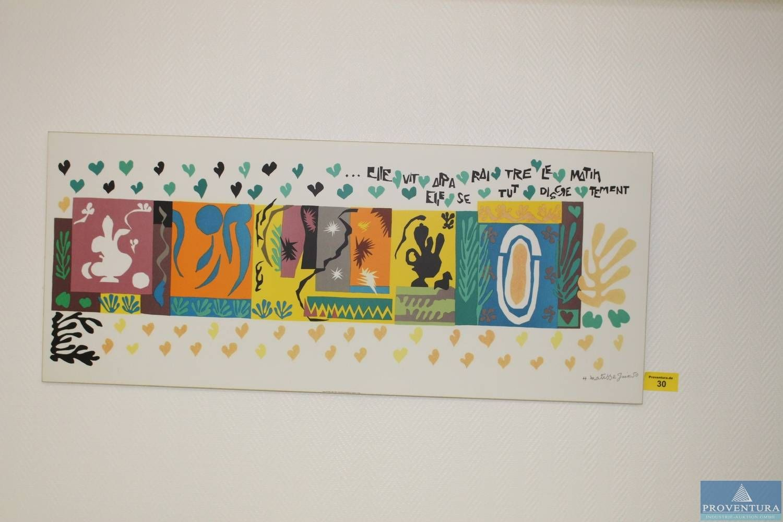 Wandbilder 2 St. auf Hartholz je ca. 120x50 cm Matisse