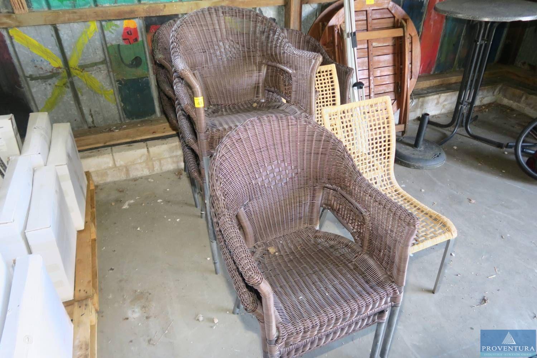 Rattan-Stühle braun
