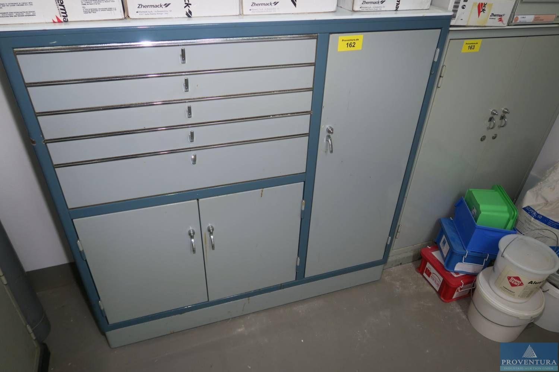 Metallschrank blau/grau ca. 110x40x105h cm