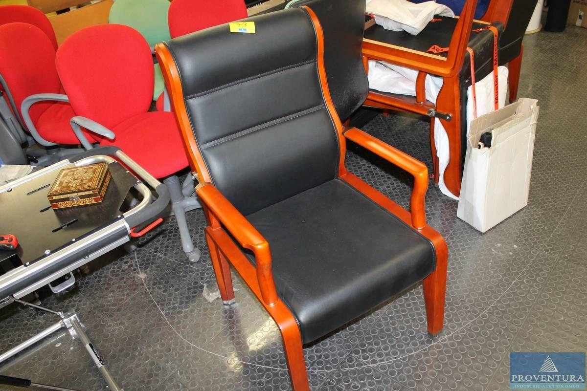 Konferenzstühle Holz/Leder