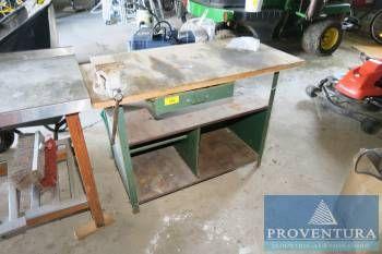 Werktisch m. Holzplatte