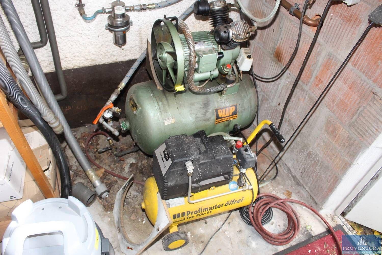 Kompressoranlage mit 2-Zylinder-Kolbenkompressor ALUP