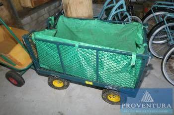 Bollerwagen Metall grün
