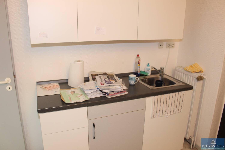 Klein-Küchenzeile Front hell teils grau ca. 160 cm