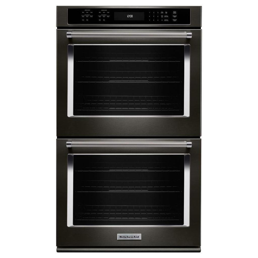 NEUE schwarze Edelstahl-Küchenhilfe 27 Zoll. Doppelter elektrischer Wand-Ofen