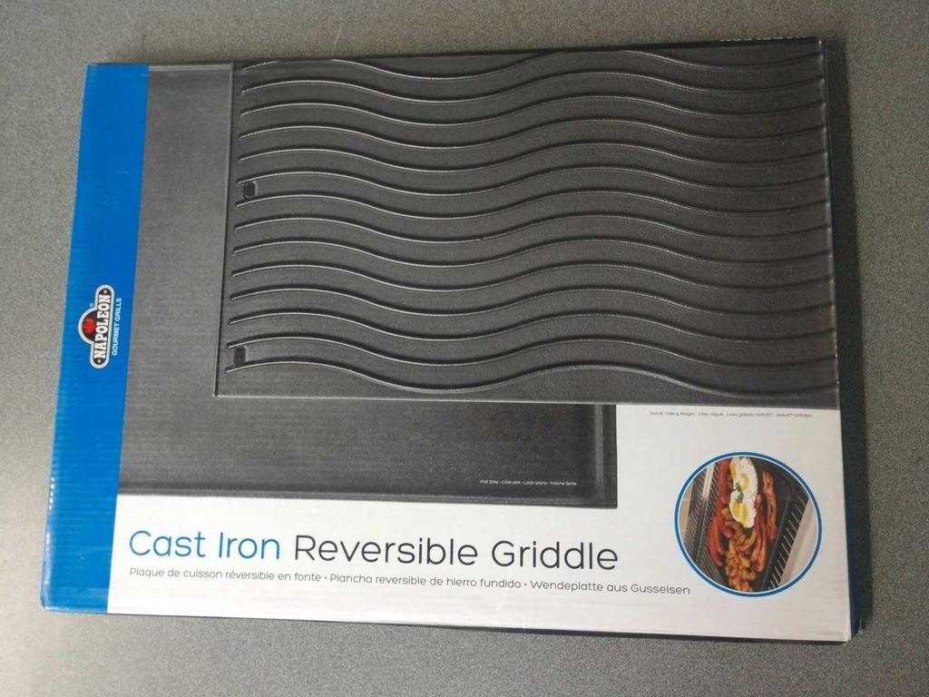 NEW Napoleon 500 Serie Gusseisen Reversible Grillplatte