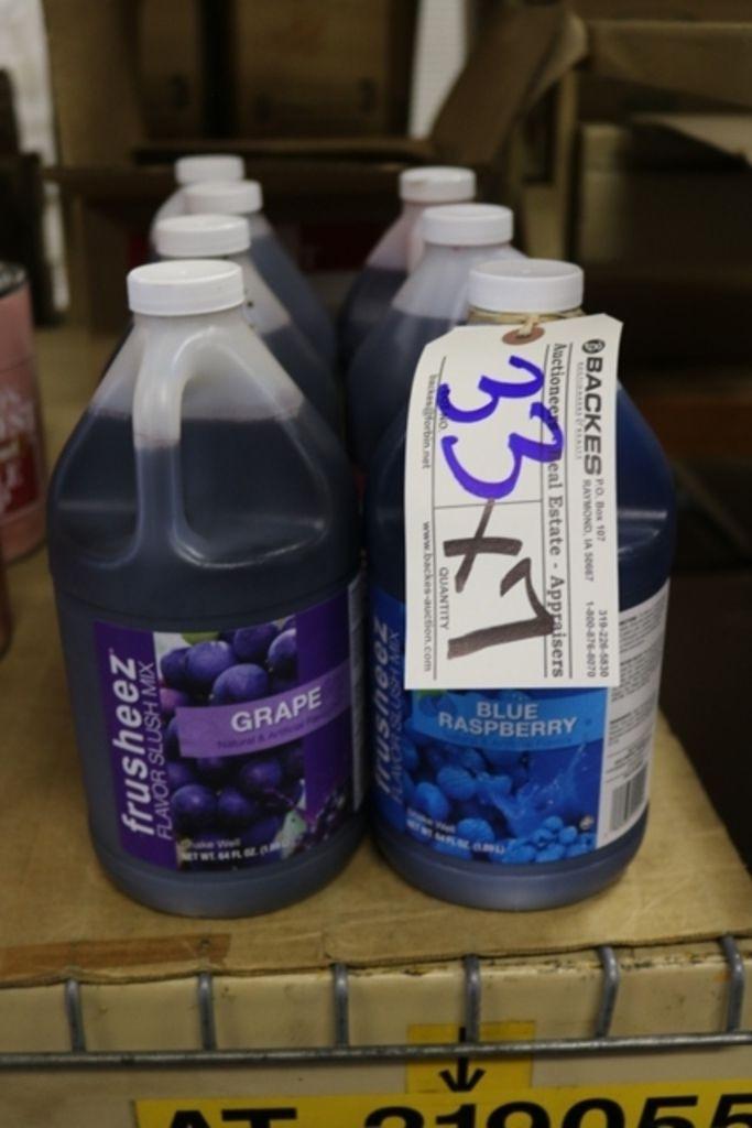 Zeiten 7 - 64oz Flaschen Slush Mix, Traube / blaue Himbeere / Erdbeere / Kirsche