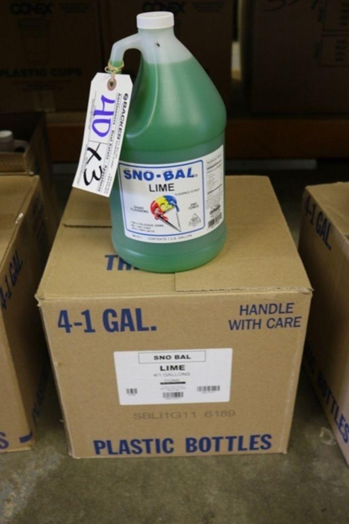 Times 3 - Gallonen Sno Bal Limettenaroma Sirup