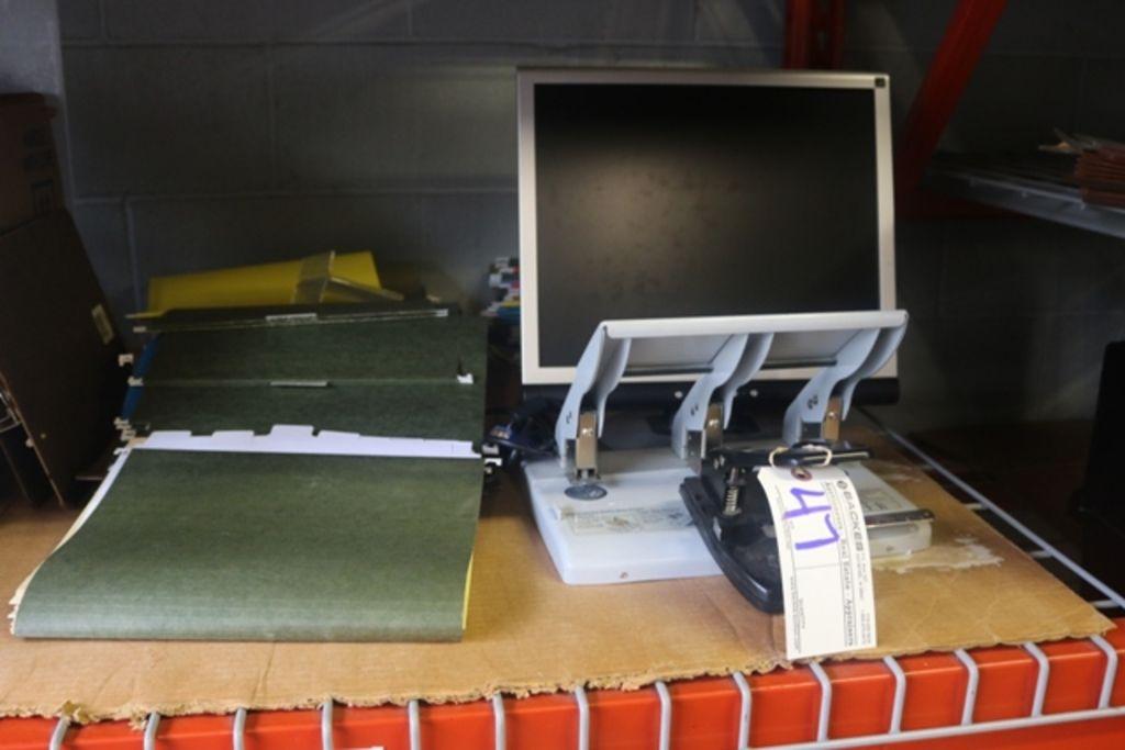 Verschiedenes Office-Monitor, Papier Punch & Dateiordner