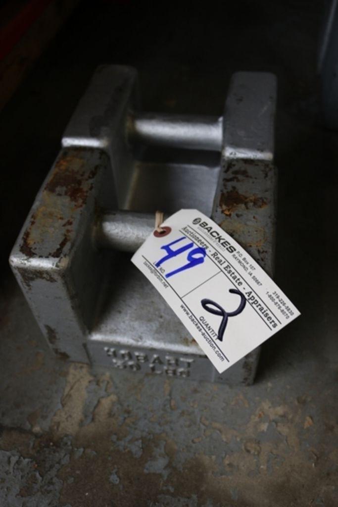 Zeiten 2 - Hobart 50LB Präzisionsgewichte