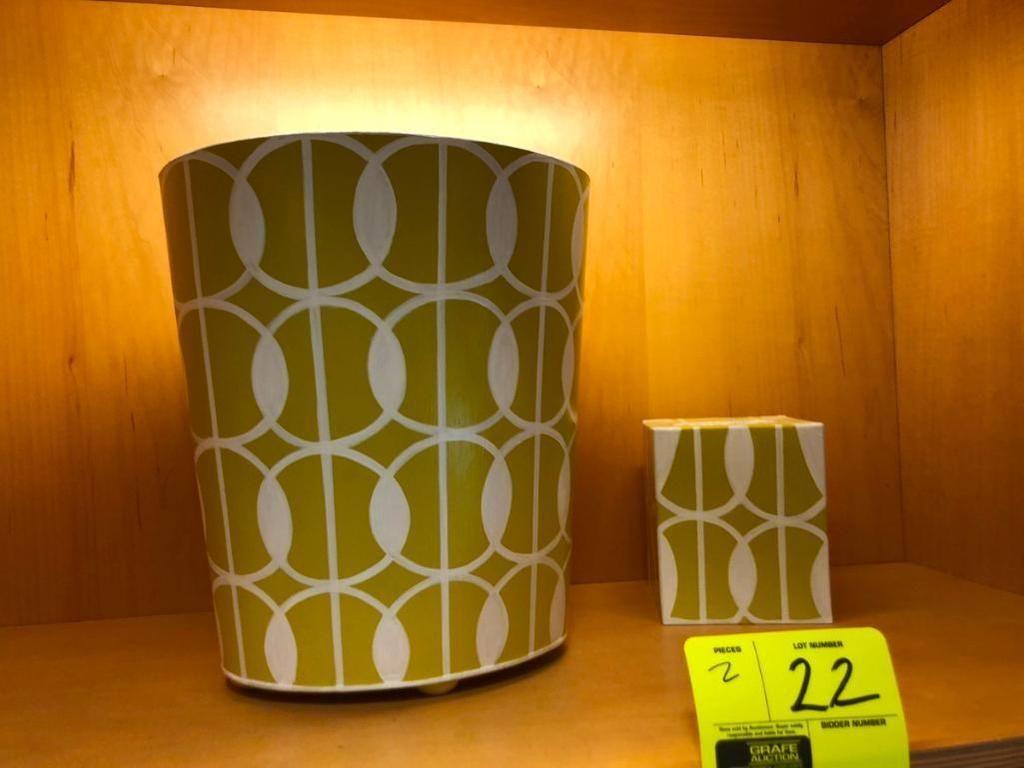 (1) Abfallkorb und (1) Abdeckung für Tissue-Box