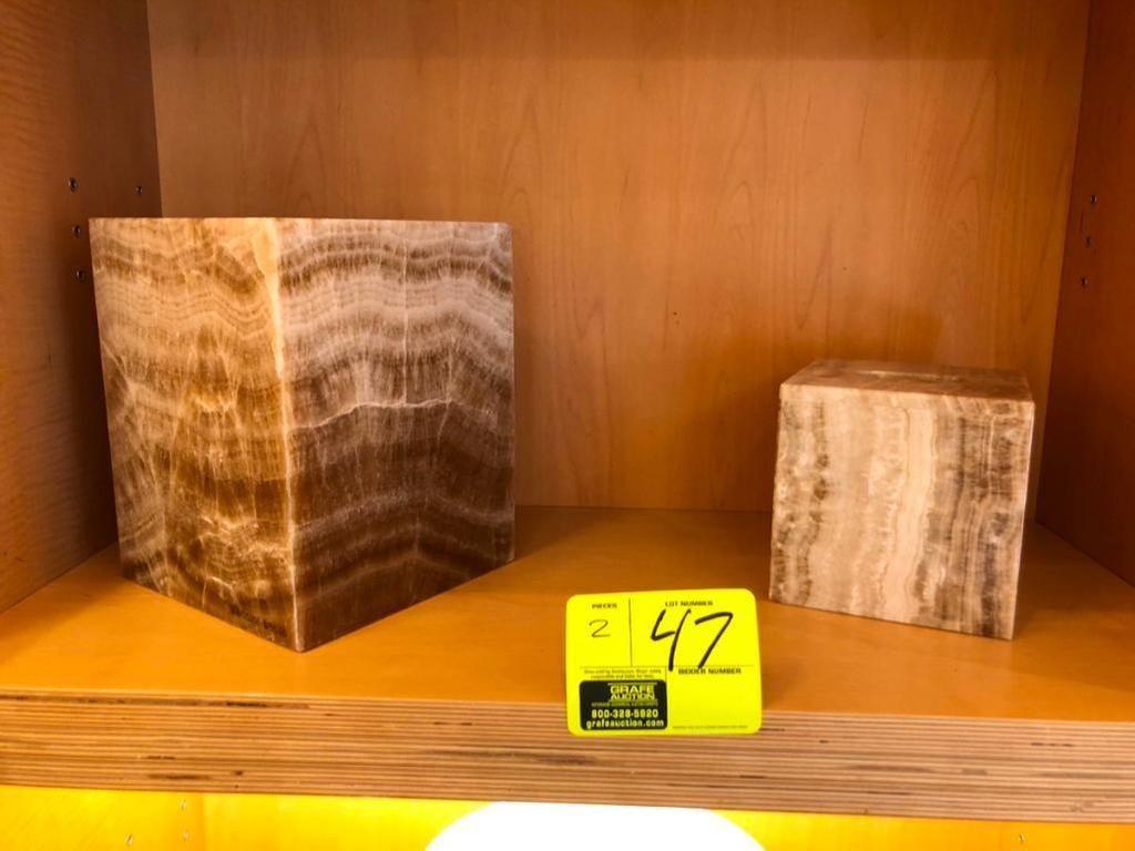 (1) Onyx-Abfallkorb und (1) Abdeckung für Tissue-Box