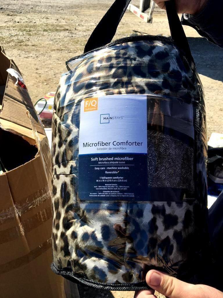 Mainstays Leopard Microfaser Tröster / Full / Queen