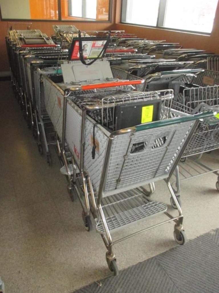 Verschiedene Einkaufswagen