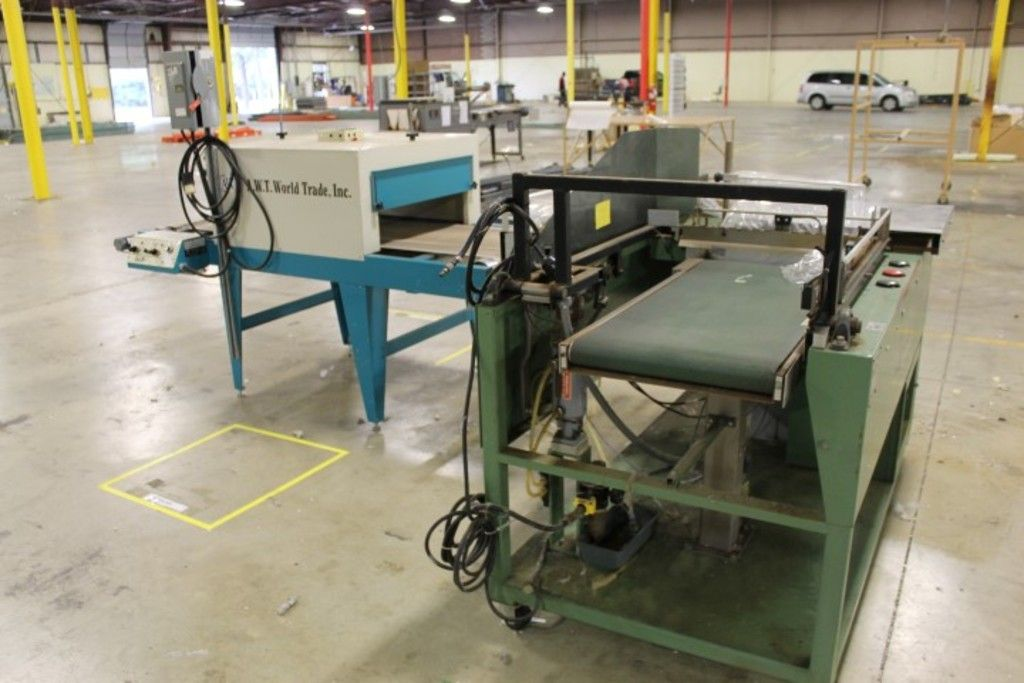 2 Stück - (1) Unterschriftenverpackung 2333-S1 Siegelmaschine und (1) A.W.T. CT-24-60 Infrarot-Schru