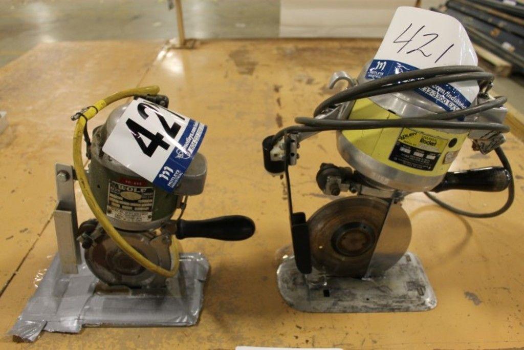 2 Stücke: (1) Wolf elektrisches Trennrad; Und (1) JB Gury Universal Rocket Elektrische Trennscheibe