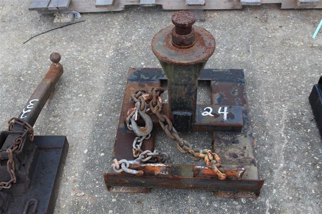 Anhängevorrichtung für Gabelstapler mit Schwanenhals
