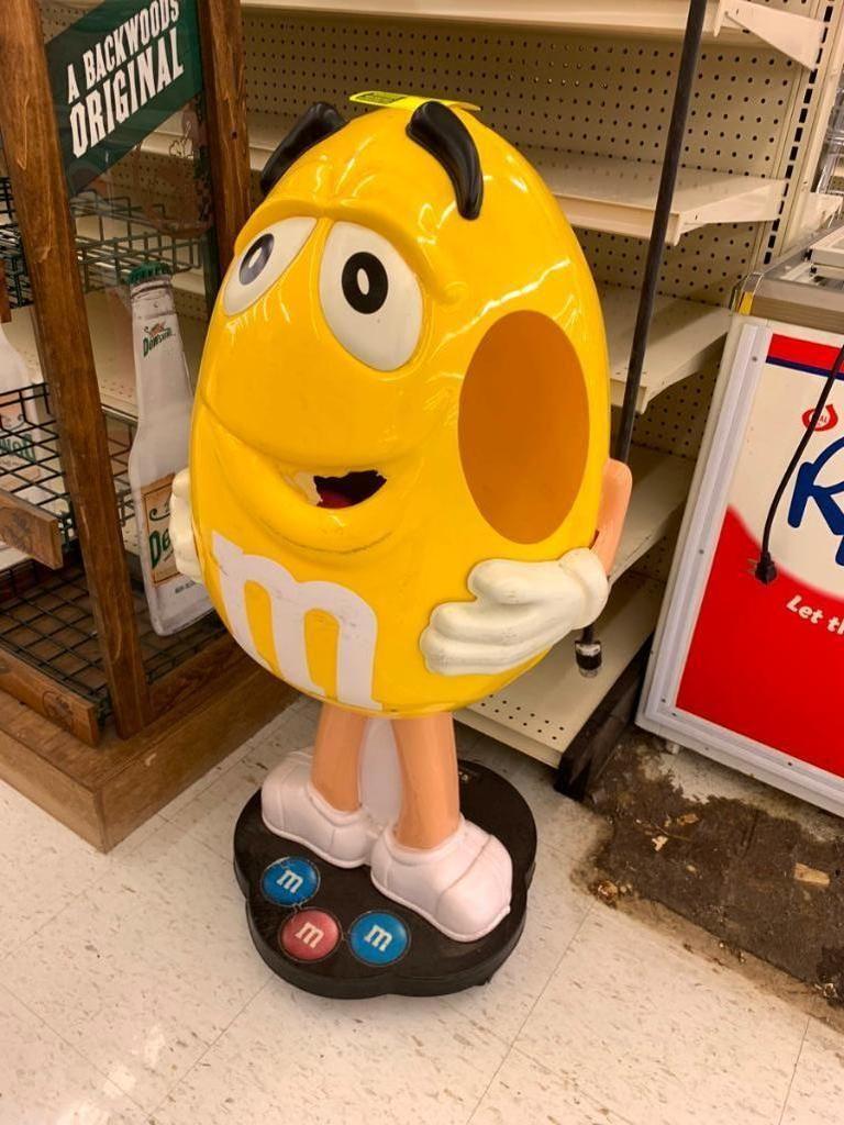 M & M Yellow Poly Merchandiser