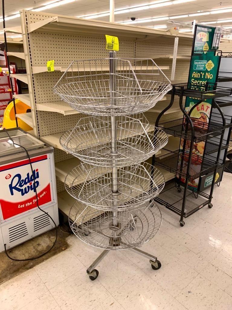 Tragbarer runder Merchandiser-Dump mit 4 Ebenen