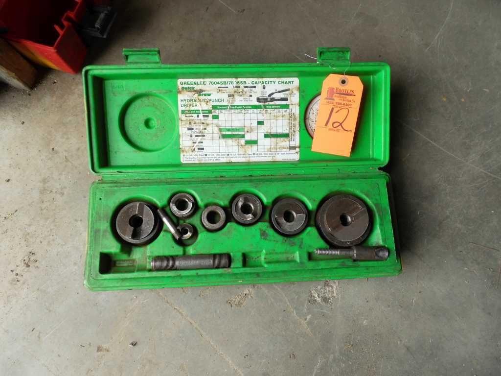 Greenlee hydraulischer Locher