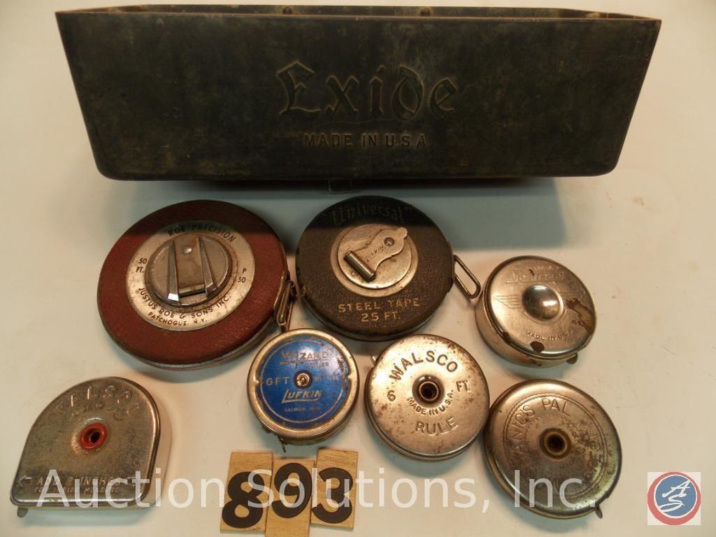 (8) Bänder mit Exide-Box, einschließlich Mechanics Pal - Stanley Nr. J1260 - Walsco - Wizard - Unive