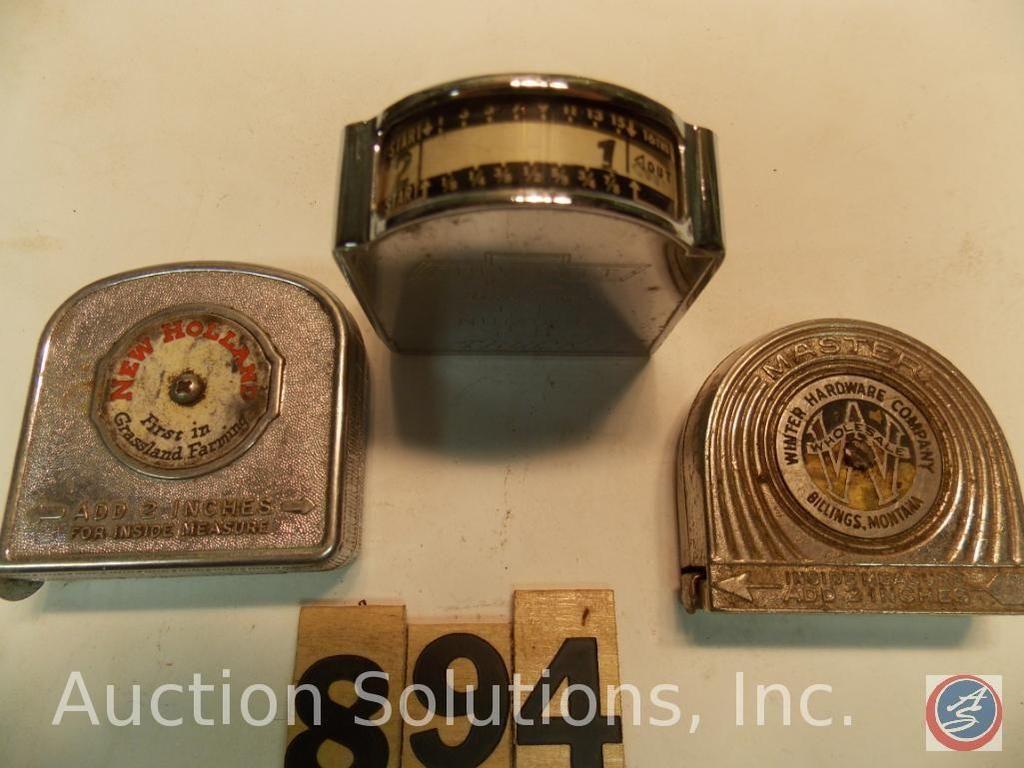 (3) Werbebänder. Winter Hardware Billing Montana - New Holland als erstes Unternehmen in der Grünlan
