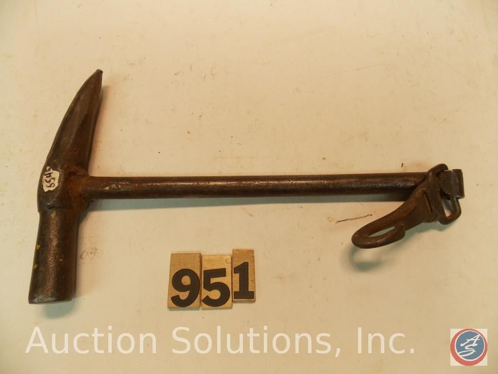 12 in. Hammer (Schneeball) mit Druckknopf, handgeschmiedet, um Pferdehufe im Winter vom Schnee zu be