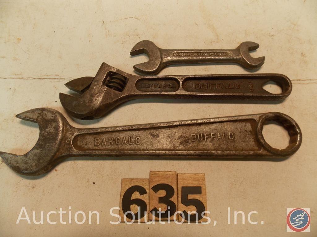 (3) Sonstiges Crescent Wrenches, alle Marken von Barcalo Buffalo