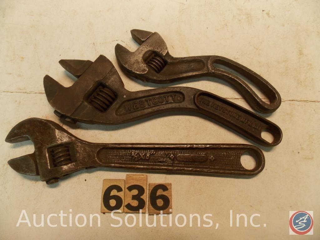 (3) Sonstiges Crescent Wrenches. (1) 8 in. Markiert 1 / 2x8 in. Deutschland - (1) Westcott 8 in. No