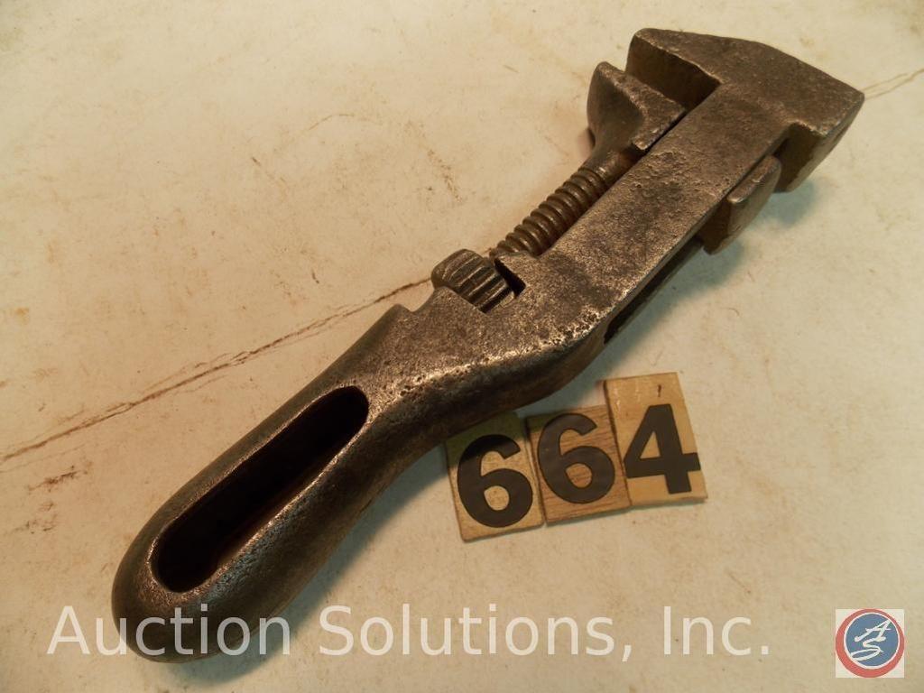 Verstellbarer Schraubenschlüssel 8 Zoll. Girard-Schraubenschlüssel, keine Markierungen. Pat 11. Juli