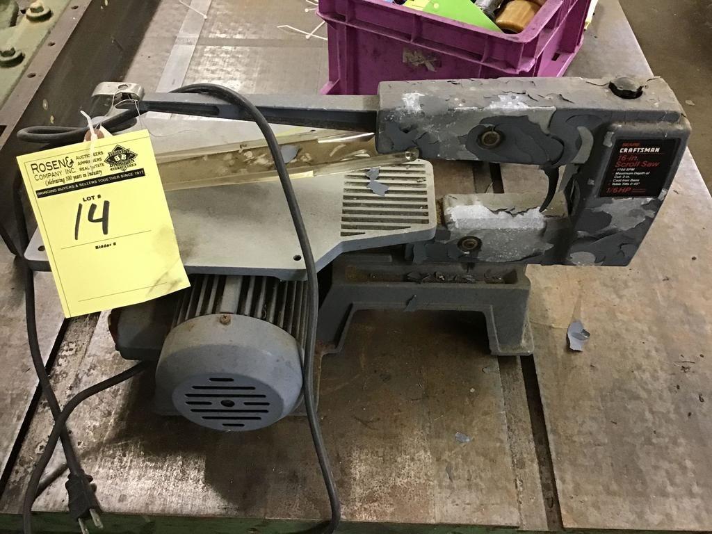 Craftsman 16 Zoll Dekupiersäge. 1/6 HP Motor