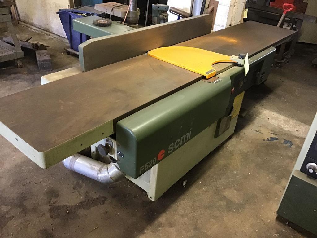 SCMI F520 20-Zoll-Jointer mit Klingenschutz, SIEHE VIDEO des Geräts in betriebsbereitem Zustand.