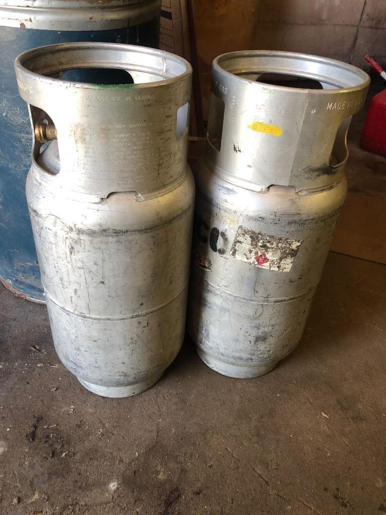 Posten (2) Aluminium-LP-Tanks