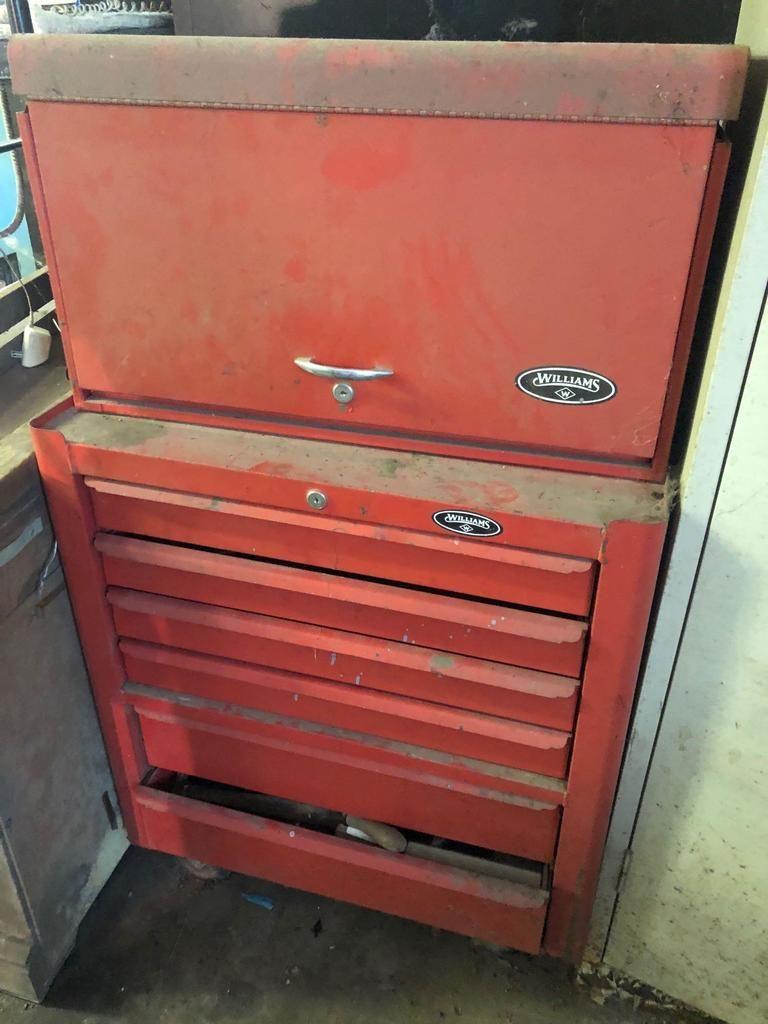Williams Steel Tool Box mit Werkzeugen.