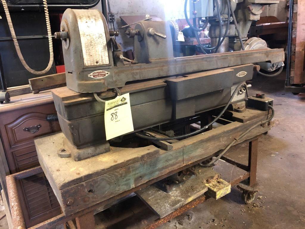 Vintage Handwerker Drehmaschine