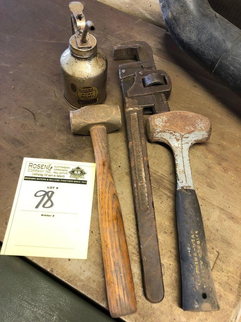 Gruppenlos Weinlese-Werkzeugausstattung