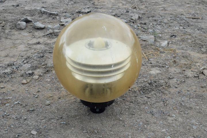 6 Außen- / Parkbeleuchtung, runder Globus, Masthalterung