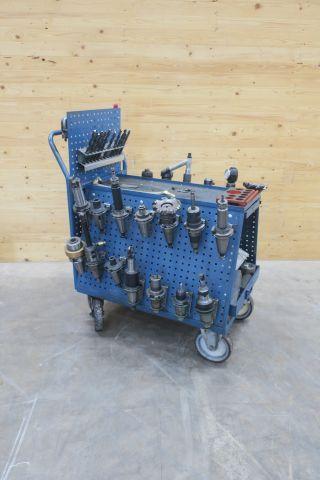 Werkzeugwagen mit Haltewerkzeugen