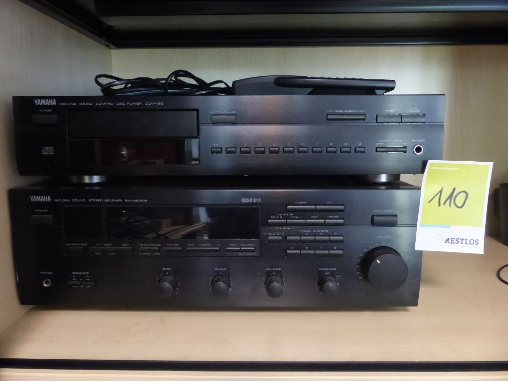 Compact Disc Player und Stereo Receiver, Marke Yamaha