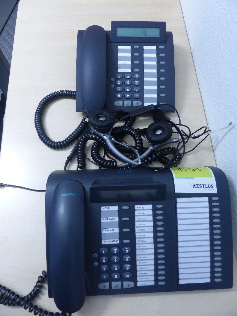 2x Siemens Systemtelefone, Typ OptiPoint 500