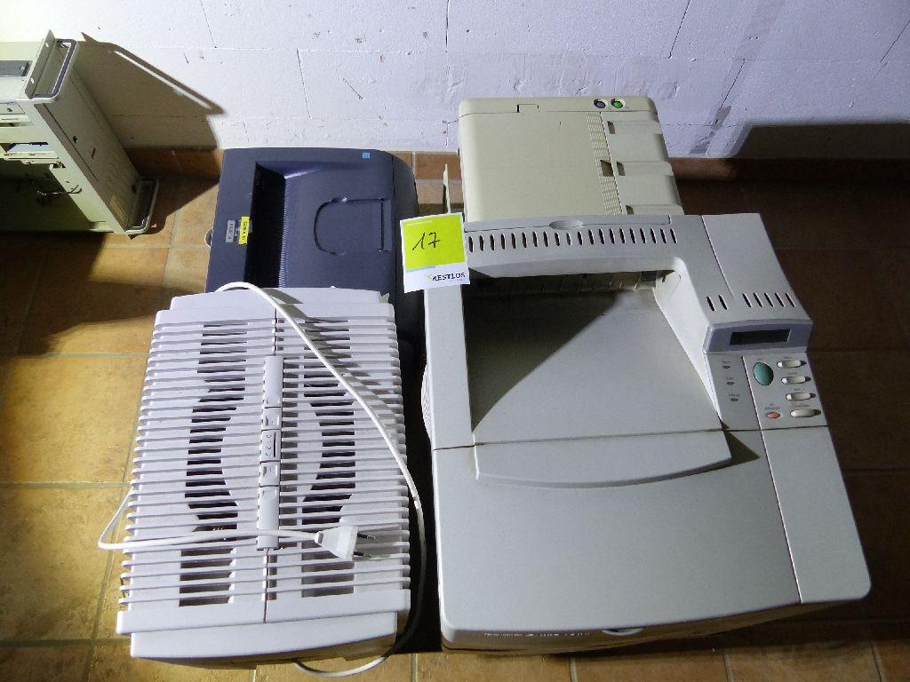 Posten Elektronik mit 3x Drucker, 1x Luftwäscher